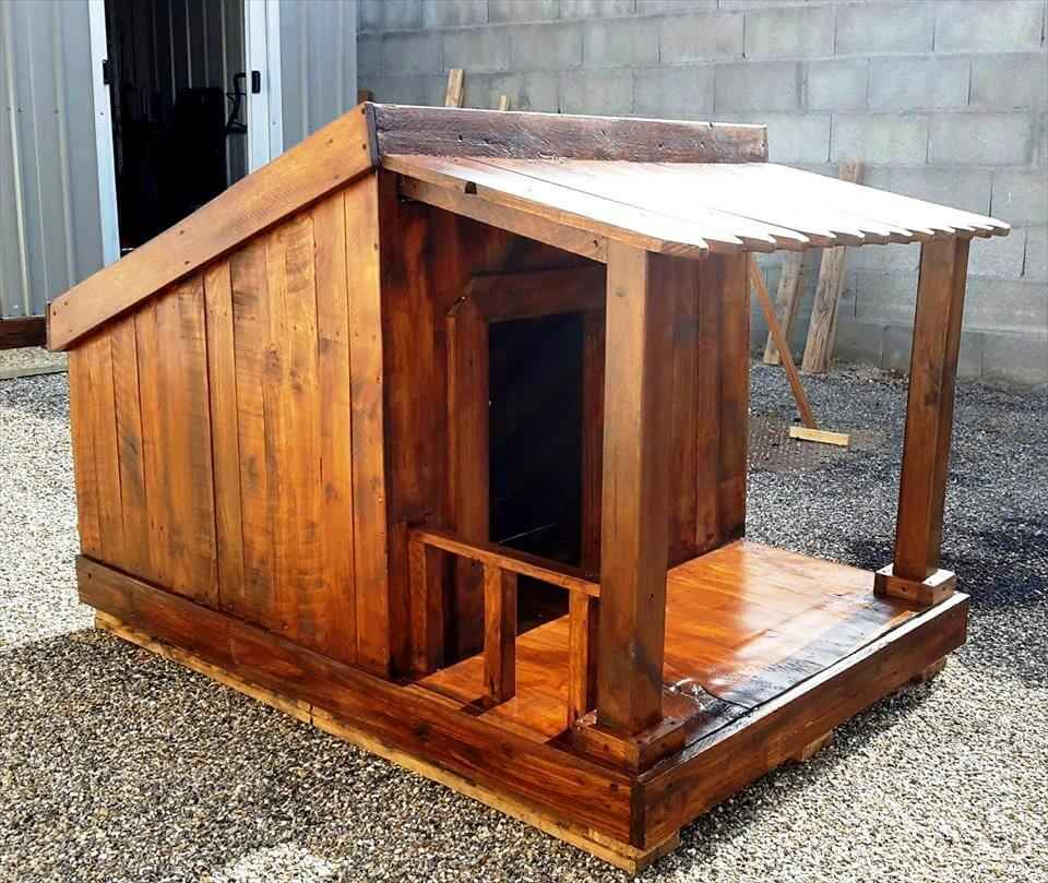 Como fazer uma casinha de cachorro de paletes com suas próprias ferramentas 14